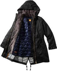 BOSS Orange - Parka 'Olansa-W' Made From Water-Resistant Cotton Blend - Lyst