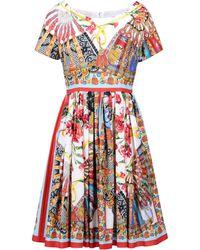 Dolce & Gabbana Multicolor Short Dress - Lyst
