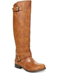 Material Girl Ludlow Tall Wide Calf Riding Boots - Lyst