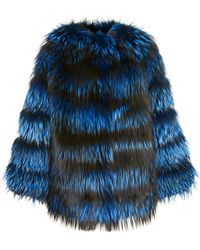 Helen Yarmak International - Blue-dyed Silver Fox Jacket - Lyst