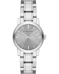 Burberry Stainless Steel Watch Grey - Lyst
