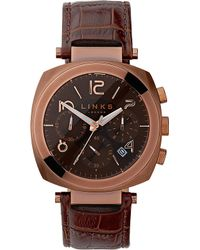 Links of London - Brompton Leather Strap Chronograph Watch - Lyst