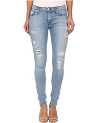 Hudson Nico Mid Rise Super Skinny Jeans In Buzzworthy - Lyst
