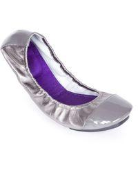 Me Too Metro Metallic Leather Ballet Flats - Lyst