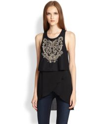 Sachin & Babi Lizzie Layered Embroidery Top - Lyst