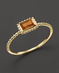 Lagos 18K Gold Citrine Baguette Stack Ring - Lyst