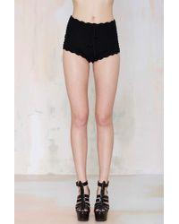 Nasty Gal Crochet All Day Shorts - Lyst