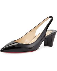 Christian Louboutin Karelli Slingback Red Sole Pump - Lyst