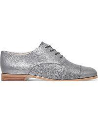 MICHAEL Michael Kors - Pierce Metallic-leather Oxford Shoes - Lyst