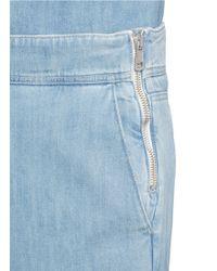 Chloé   Washed Denim Wide Leg Jeans   Lyst