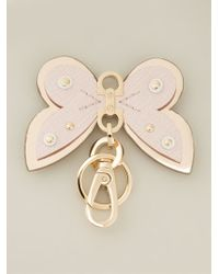 Ferragamo Butterfly Keyring - Lyst