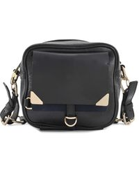 Vanessa Bruno Small Betty Leather Crackled Camera Bag - Lyst