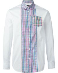 DSquared2 Checked Panel Shirt - Lyst