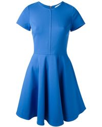 Diane Von Furstenberg Blue Shift Dress - Lyst