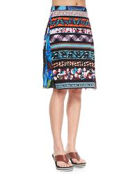Jean Paul Gaultier Printed Stretch Coverup Skirt - Lyst