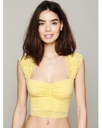 Intimately - Womens Scallop Edge Crop - Lyst