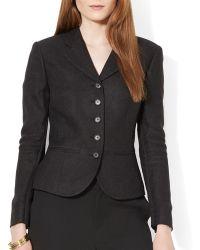 Ralph Lauren Lauren Herringbone Tweed Jacket - Lyst