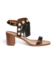 Valentino Gryphon Stud Leather Sandals - Lyst