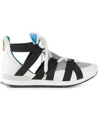 Vionnet Crossed Strap Hi-Top Sneakers - Lyst