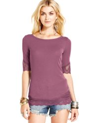 Free People Lace Top - Lyst