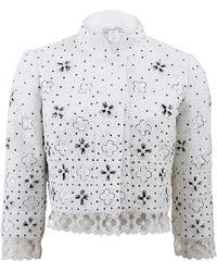 Oscar de la Renta Clover Floral Tweed Jacket - Lyst