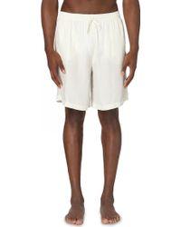 La Perla Classic Cupro-blend Pyjama Shorts - White