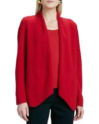 Eileen Fisher Merino-wool Open Jacket - Lyst