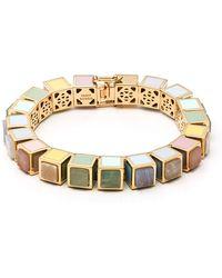 Eddie Borgo - Multi-stone Cube Bracelet - Lyst