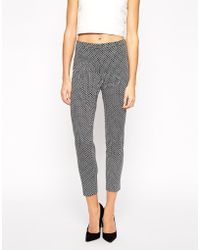 Oasis Mono Jacquard Structured Pant - Lyst