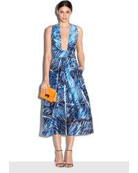 Milly | Scribble Print Elisa Pleated Dress | Lyst