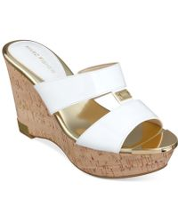 Marc Fisher Willian Platform Wedge Sandals - Lyst