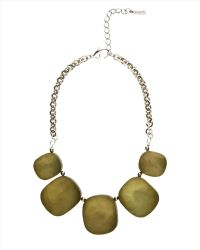 Jaeger Hammered Pebble Necklace