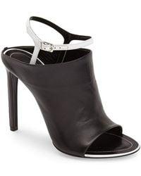 Balenciaga 'Glove' Bicolor Leather Open Toe Sandal black - Lyst