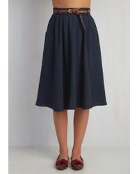 Hot & Delicious - Breathtaking Tiger Lilies Midi Skirt In Navy - Lyst