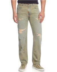 LRG - Big And Tall Distressed Straight-leg Jeans - Lyst