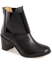 MM6 by Maison Martin Margiela Leather Ankle Boot - Lyst