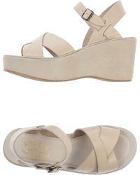 Kork-ease™ White Sandals - Lyst