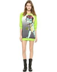 Moschino Cheap and Chic Dino Sweatshirt - Green - Lyst