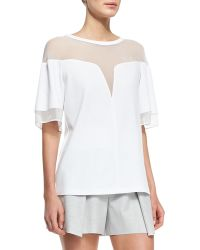 Robert Rodriguez Deep-v Sheer-yoke Box Tee  - Lyst