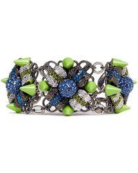 Assad Mounser Neon Spike Crystal Bracelet - Lyst