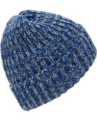 Howlin' By Morrison - Blue Colour Blind Twisted Yarn Lambswool Beanie - Lyst