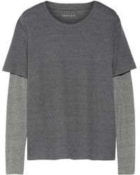 Theory Dubletee 2 Layered Jersey Top - Lyst