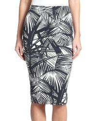 Elizabeth And James Aisling Printed Stretch-Scuba Jersey Pencil Skirt - Lyst