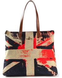 Vivienne Westwood Union Jack Tote multicolor - Lyst