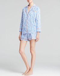 Marigot Collection - Blueberry Ikat Short Pajama Set - Lyst