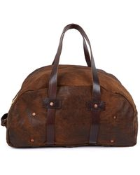 Billy Reid Distressed Leather Duffle Bag - Lyst