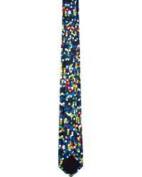 Kris Van Assche - Navy and Yellow Confetti Tie - Lyst