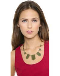 House of Harlow 1960 - Five Station Necklace Olive - Lyst