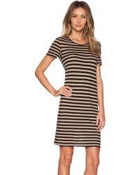 Enza Costa Doubled Easy Mini Dress - Lyst