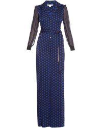 Diane von Furstenberg - Cathy Printed Silk Jumpsuit - Lyst